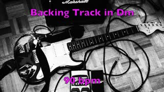 Dm Atmospheric Percussion Guitar Backing Track 90 bpm