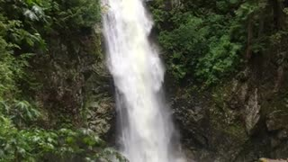 beautiful water fall Relaxing Nature Sounds of a Soothing Waterfall