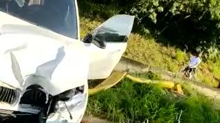 Video: grave accidente en la vía al aeropuerto la mañana de este miércoles