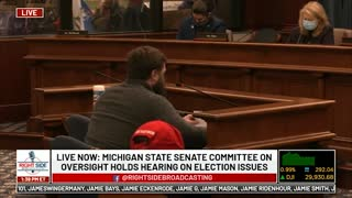Witness #23 testifies at Michigan House Oversight Committee hearing on 2020 Election. Dec. 2, 2020.