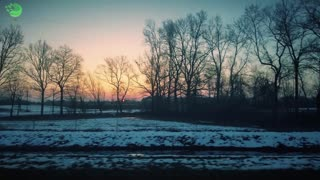 beautiful landscape from a moving train