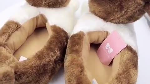3D Corgi Love Warm Indoor Slippers