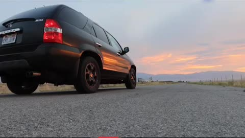 02 Acura MDX work in progress straight piped