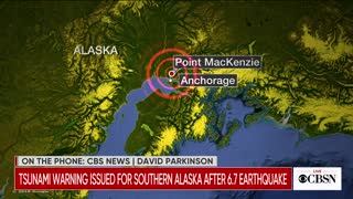 Tsunami warning issued for southern Alaska after earthquake