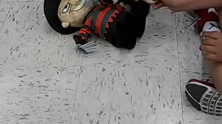 Jason wins fight against Freddy Krueger in toy fight