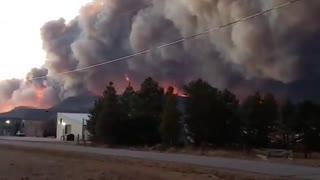 Massive flames and smoke captured on camera over Grandby, Colorado