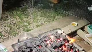 DJI Building up camp fire