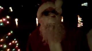 Santa outside 2020