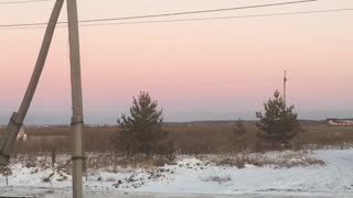 Beautiful gentle sunset
