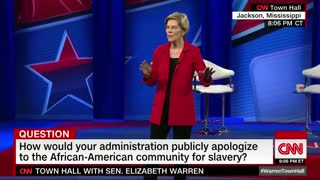 Warren Says Congress Should Mandate White Americans Atone For Slavery