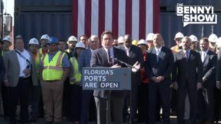 DeSantis Courageously Opens Ports to Fight Supply Chain and Shipping Woes