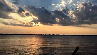 Time-lapse Sunset over White Lake
