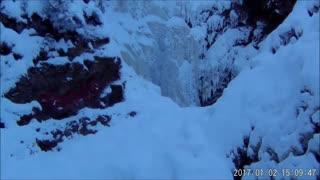 Frozen Falls near Hixon, BC