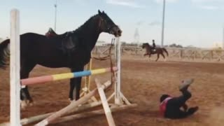Fall from a horse