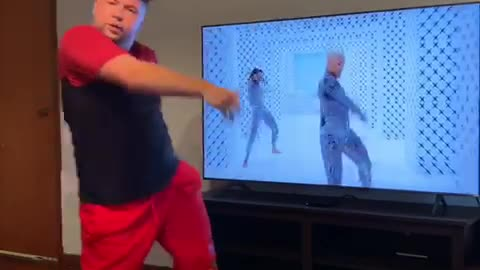 This guy's dance moves are perfectly in sync with Beyonce in 'My Power' music video