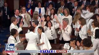President Donald Trump's speech triggers applause from Democrat women