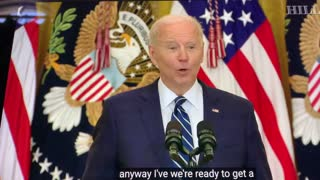 Biden loses it during presser