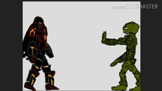 dragon ball super fan animation. Goku and Vegeta vs. demon hunter