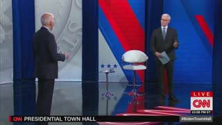 Cooper Asks Biden About Being In White House Residence