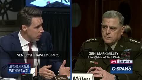 Josh Hawley Tells Mark Milley & Lloyd Austin To Resign