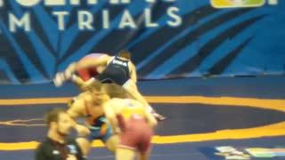 Zain Rutherford vs Logan Stiebler USA Olympic wrestling trials