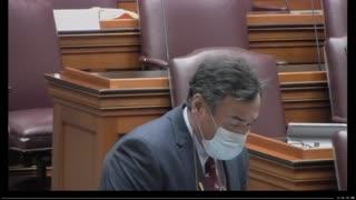 Bennett first floor speech 130th maine senate