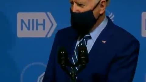 Biden Won't Take Off Mask
