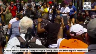 George Floyd's Family Visits Minneapolis Memorial