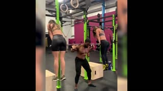 Exercise with using sexy Ladies