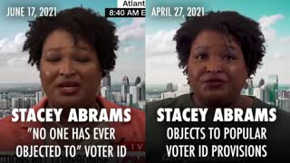 Stacey Abrams Flip Flops On Voter ID