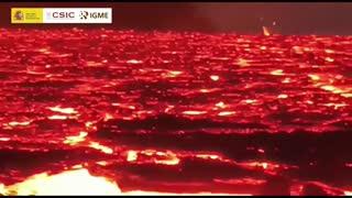 La temperatura de las coladas en La Laguna alcanza picos de 1.150 grados