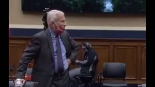 Dr. Fauci Takes Off Mask Immediately When Hearing Ends