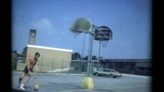 Brooke Shoffner Shooting Basketball 1972