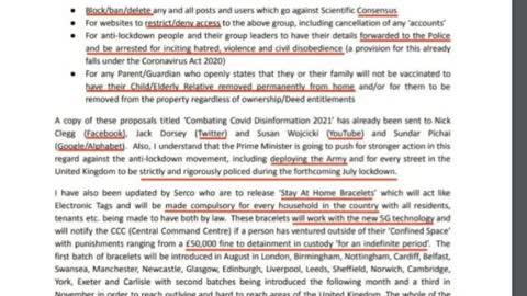Leaked Docs On Permament Lockdown of UK in 3 weeks Time!