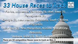 There are 33 competitive House races to track on Nov. 3 as Democrats battle to hold House majority