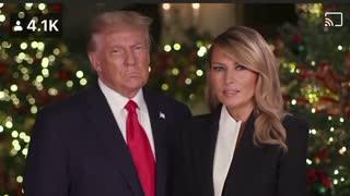 First Lady Melania Trump + President Trump Wish You A Merry Christmas!