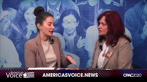 Sabine at CPAC With America's Voice