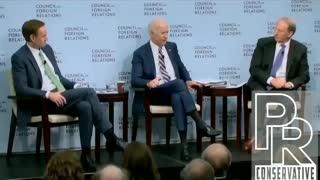Joe Biden admitting to a quid pro quo with Ukraine