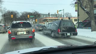 Funeral limo escort