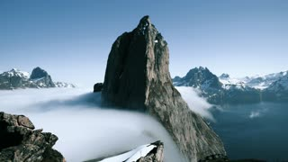 Beautiful Mountain and Clouds