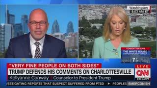 Kellyanne defends Trump as CNN's Smerconish questions Charlottesville