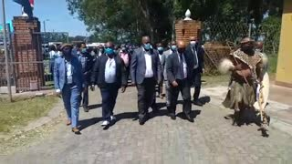 KZN traditional leaders arrive at King Goodwill Zwelithini's palace to pay their respects