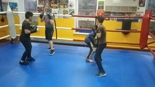 One day from training boxers boys. Boxing Dimon.