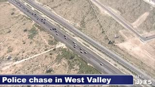 Awesome Team PIT In This Wild Police Pursuit in Phoenix Arizona