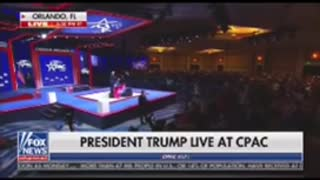 Trump standing ovation at CPAC 2022