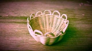 DIY: How to make a miniature rattan basket