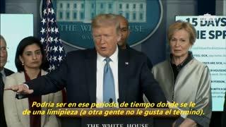 """Trump sobre la crisis del coronavirus: """"Podría durar hasta agosto"""