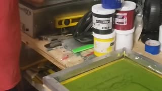 exposing silkscreen screen