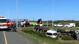 Crash involving minibus taxi and a truck leaves seven dead