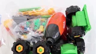 Repair Truck Wheels Pretend to Play Make Electric Screwdriver Farm